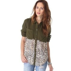 Free people Welcome to the jungle blouse